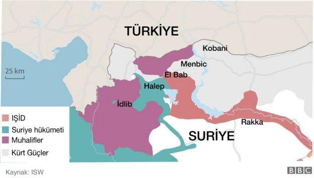 Suriye kontrol haritası