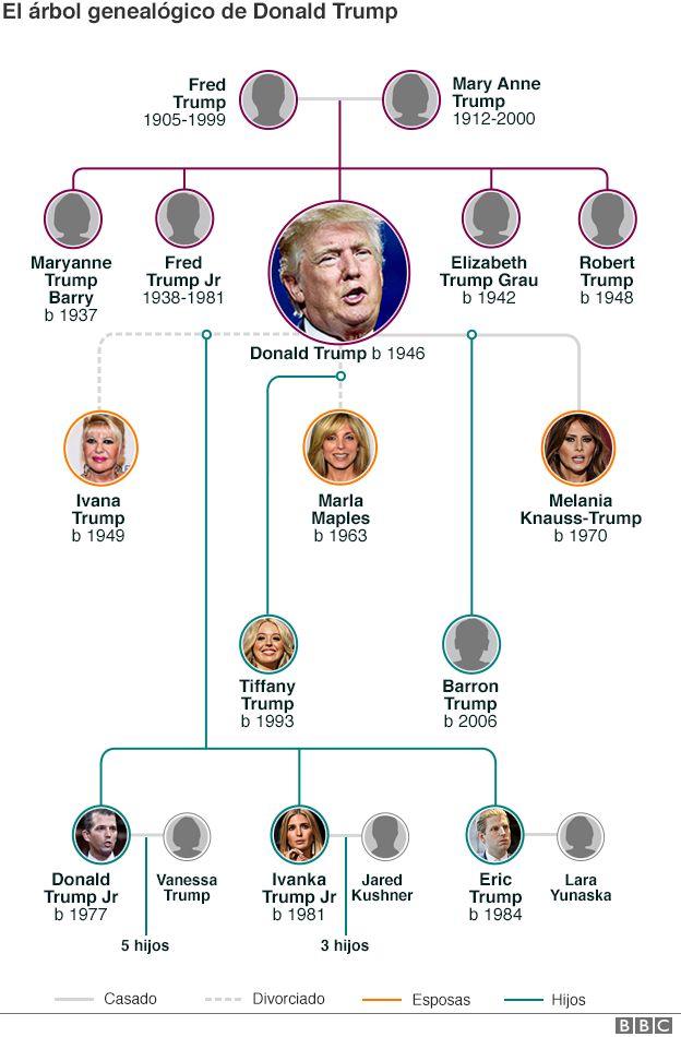 Árbol genealógico de Donald Trump