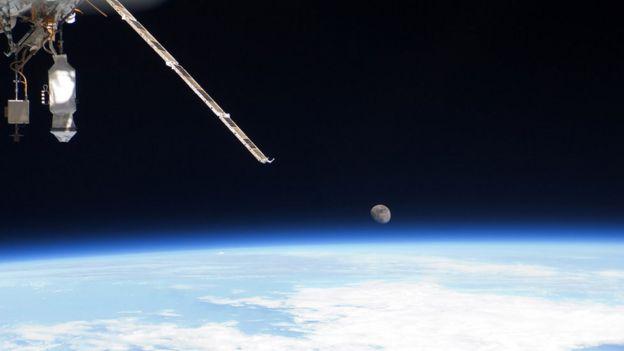 Luna vista desde el espacio.