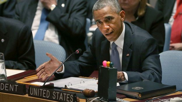 Obama preside la reunión del Consejo de Seguridad de la ONU en 2014.