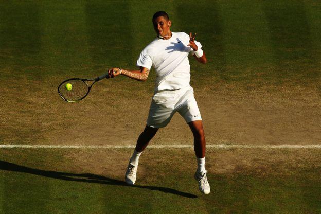 Nick Kyrgios venció a Rafael Nadal en 2014.