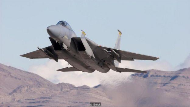 Avião americano F15