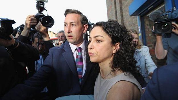 Eva Carneiro leaving the employment tribunal