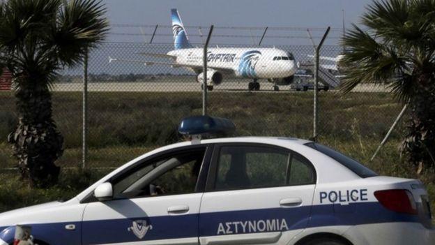 Larnaca Airport, hijacked EgyptAir Airbus A320
