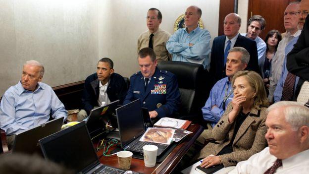 Todo el gabinete de Obama observa el momento del ataque de las Fuerzas Especiales de Estados Unidos contra Osama bin Laden.