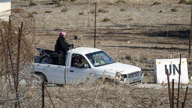 Боевики с сирийской стороны Голанских высот