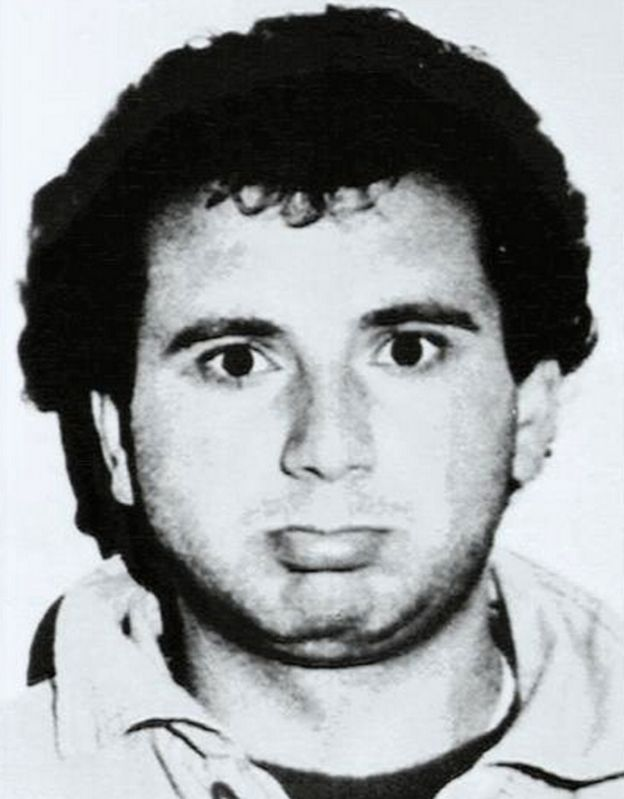 Giovanni Brusca after his arrest, 1996
