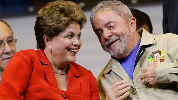 President Rousseff and former President Lula da Silva