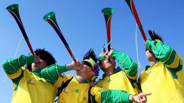 South Africa fans at the 2010 World Cup