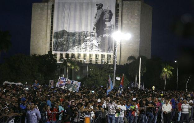Homenaje a Fidel Castro en La Habana