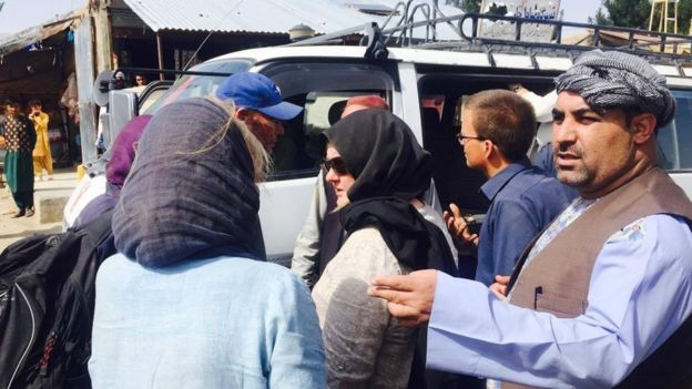Image showing some of the tourists who were attacked in Herat province