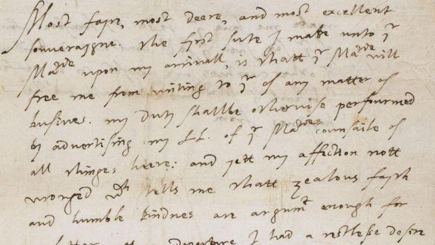 Carta del conde de Essex a Isabel I