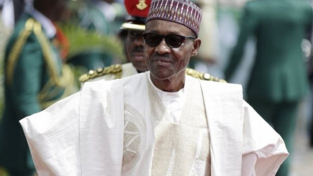 Nigerian President, Muhammadu Buhari, arrives for his Inauguration at the eagle square in Abuja, Nigeria