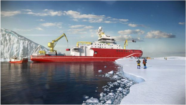Artwork of RRS Sir David Attenborough