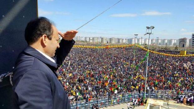 Osman Baydemir Diyarbakır Nevruz alanında