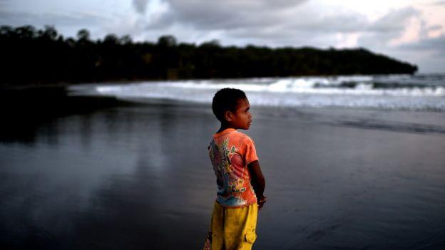 Child in Papua New Guinea