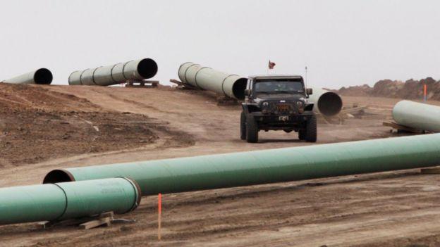 La construcción del Dakota Access fue detenida debido a las protestas de los grupos indígenas.
