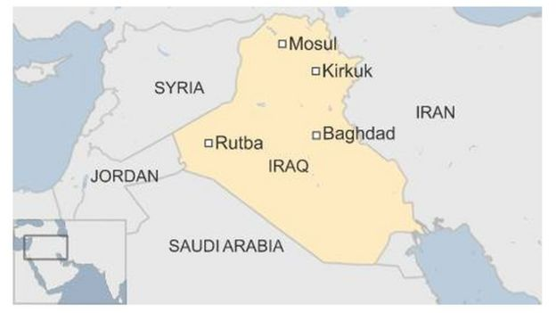 BBC map showing Rutba in Iraq