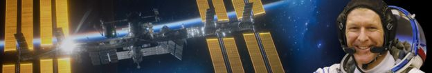 BBC banner image of ISS and Tim Peake