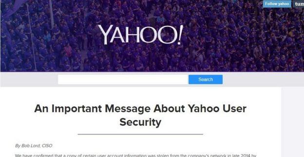 Yahoo опубликовала данные об утечке на своей блог-платформе Tumblr