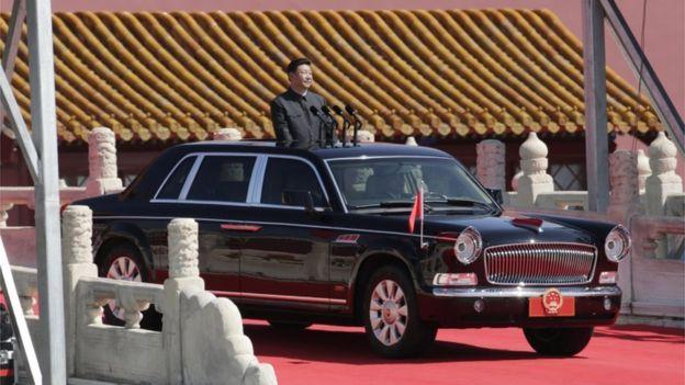 photo of Xi Jinping  - car
