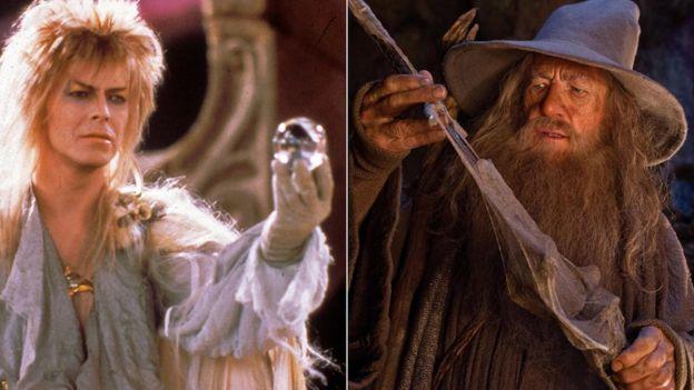 David Bowie en Lanyrinth e Ian McKellen en Lord Of The Rings