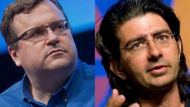 Reid Hoffman (izda.), de LinkedIn, y Pierre Omidyar (dcha.), fundador y presidente de eBay, aportaron una suma de US$20 millones.