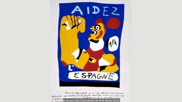 Miró'nun 'İspanya'ya Yardım Edin' adlı eseri