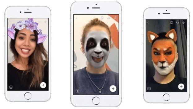 Filtros nuevos de Facebook incluyen flores y caras de animales