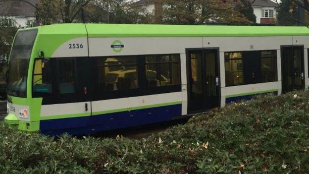 Croydon tram on 9 November