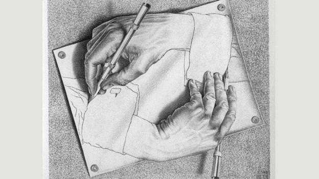 'Drawing Hands' (1948), M. C. Escher