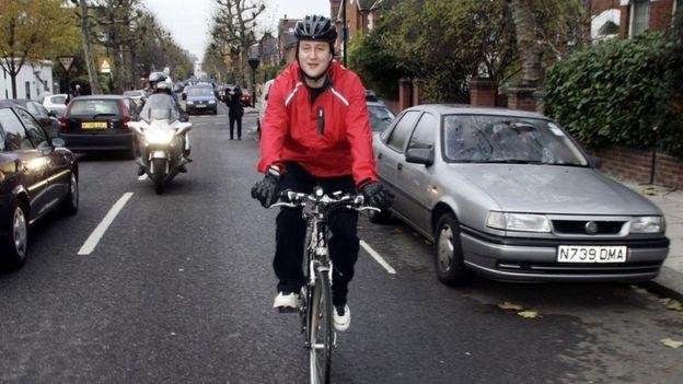 David Cameron bike