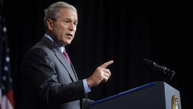 George Bush speaks on Iraq in Washington