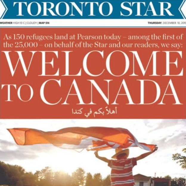 Toronto Star cover reading