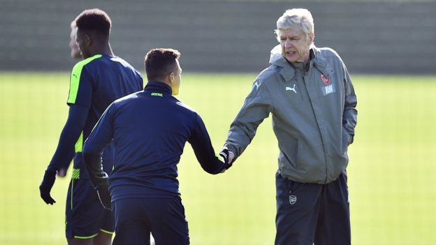 Imagen del entrenamiento de Arsenal