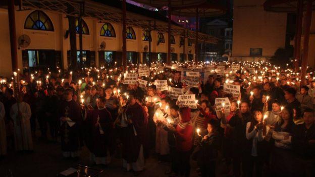 Lễ cầu nguyện cho công lý và hòa bình ở nhà thờ Thái Hà hôm 27/11