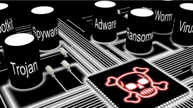 Una ilustración sobre programas de hackeo
