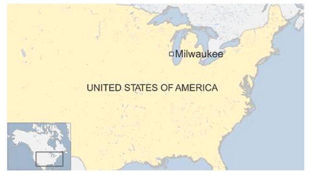 Map of Milwaukee, US