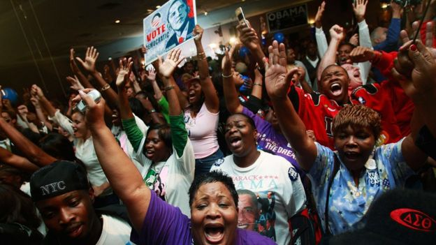 Simpatizantes de Barack Obama en la campaña de 2007