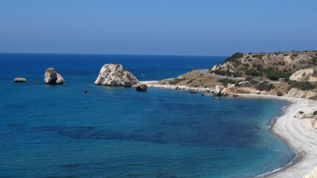 Aphrodite's Rock in Paphos, Cyprus
