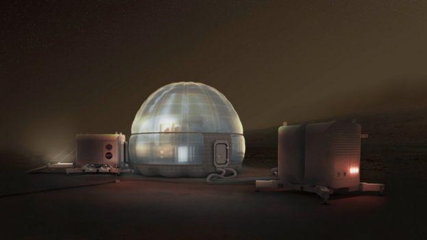 Design de casa em Marte