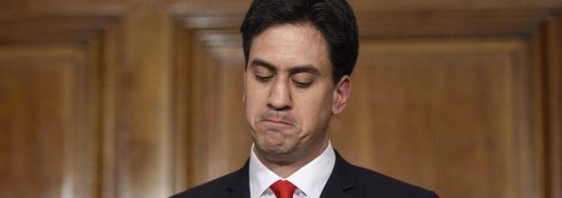 Ed Miliband resigning after the 2015 general election