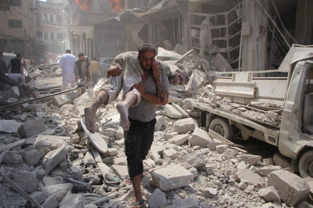 Syria conflict: Deadly air strike on market as truce hopes rise #Syria #isis #rebel #us #eu