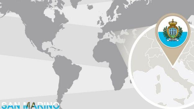 Representação geográfica de San Marino