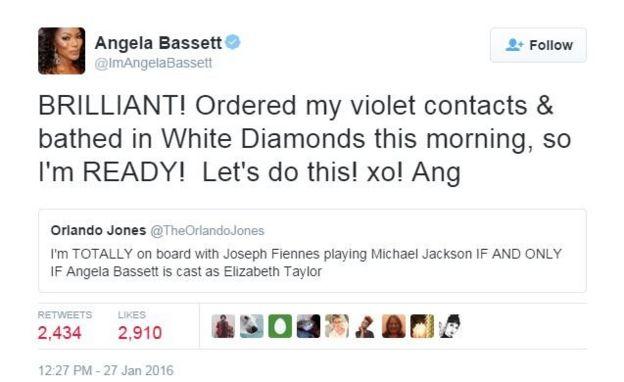 Angela Bassett tweeted: