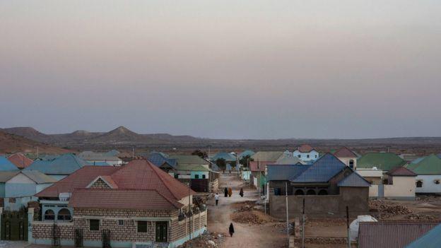 Poblado en Somalia