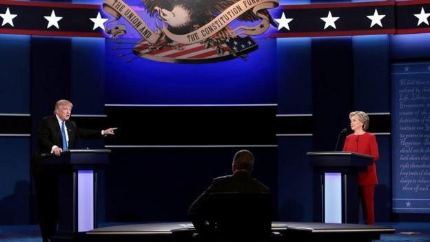 2016 ABD başkanlık seçimleri Clinton-Trump tartışması