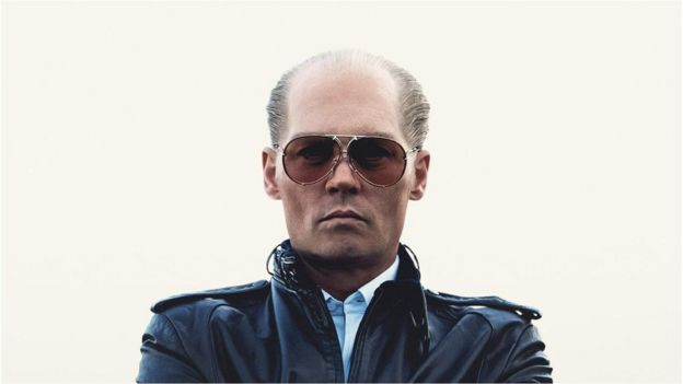 Johnny Depp in a promotional photograph for Black Mass