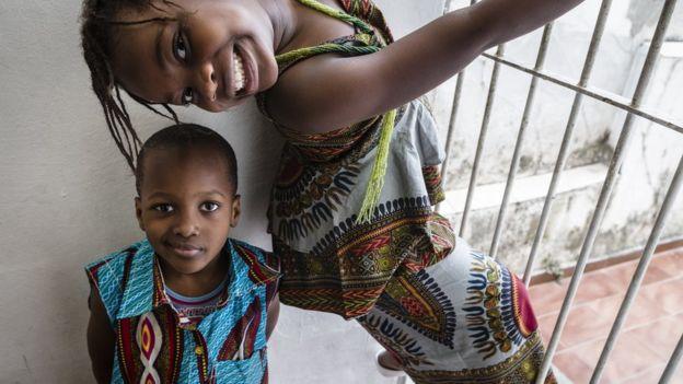 Jessy e Winner, que vieram do Congo