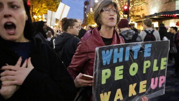Protesta contra Donald Trump en Seattle